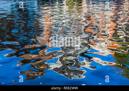 Building water reflection, Amsterdam - Stock Photo