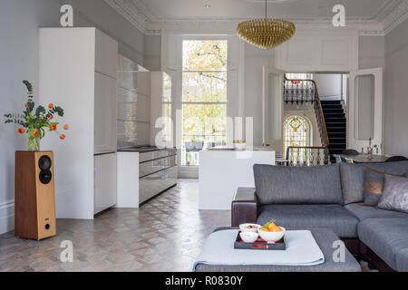 Modern open plan living area - Stock Photo