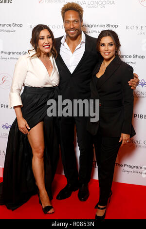 Maria Bravo, Gary Dourdan and Eva Longoria Baston attending the 9th Annual Global Gift Gala held at the Rosewood Hotel, London. - Stock Photo