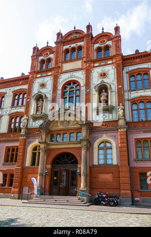 Rostock University A popular cruise ship stop on the Baltic Sea Rostock is a city straddling the Warnow River on the north coast of Germany. It's know - Stock Photo