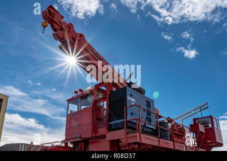 Transporter for Very Large Array (VLA) Radio Telescopes in New Mexico, USA - Stock Photo