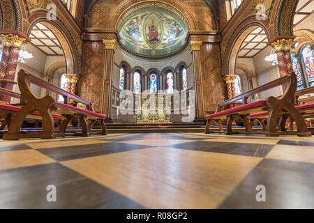 The Chapel of King's College London, Grade I listed 19th century church, Strand Campus, London, London, England - Stock Photo