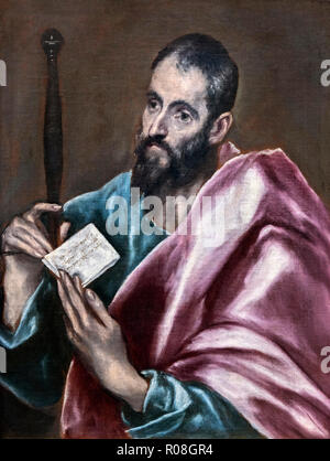 St Paul the Apostle by the workshop of El Greco (Domenikos Theotokopoulos, 1541-1614), oil on canvas, c.1608-14 - Stock Photo