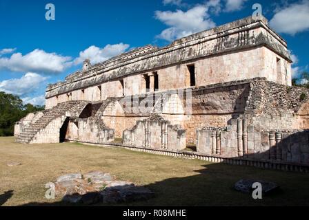 The Palace (El Palacio) at the ancient Mayan site at Kabah, Yucatan, Mexico. - Stock Photo