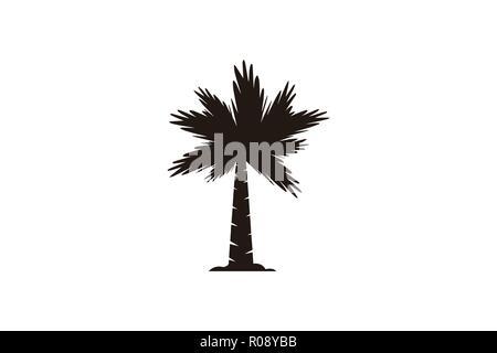 palm tree logo Designs Inspiration Isolated on White Background - Stock Photo