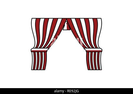 circus curtain Logo Designs Inspiration Isolated on White Background - Stock Photo