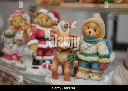 A lot of little toys bear close up. Concept of similarity and uniqueness - Stock Photo