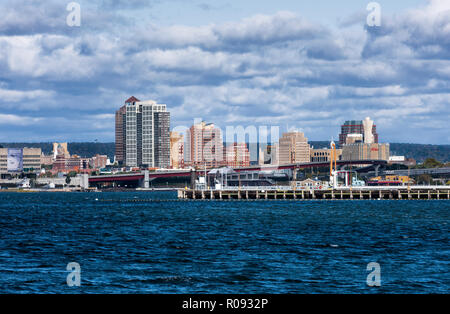 City skyline, New Haven, Connecticut, USA. - Stock Photo