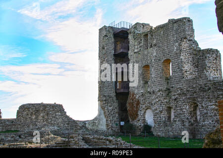 fortress of popes at Montefiascone , Viterbo, Lazio, Italy - Stock Photo