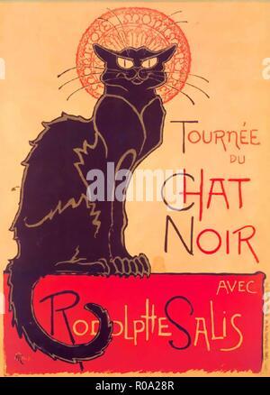 le chat noir vintage poster - Stock Photo