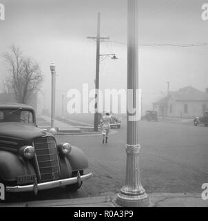 Dust Storm, Amarillo, Texas, USA, Arthur Rothstein, Farm Security Administration, April 1936 - Stock Photo