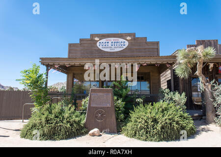 JULY 1 2017 - PIONEERTOWN, CALIFORNIA: A functioning post office in the ghost town of Pioneertown, California in the Mohave Desert - Stock Photo