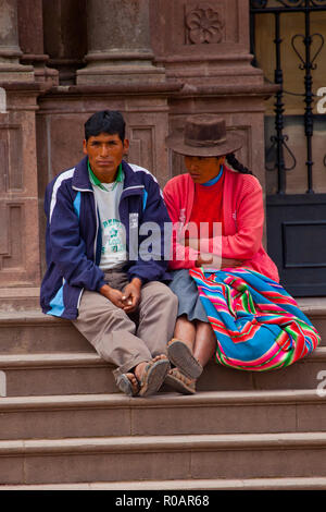 Waiting something to happen in Cusco - Stock Photo
