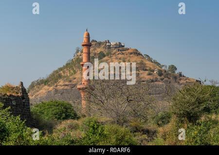 Daulatabad Hilltop Fort, near Aurangabad, Maharashtra, India - Stock Photo