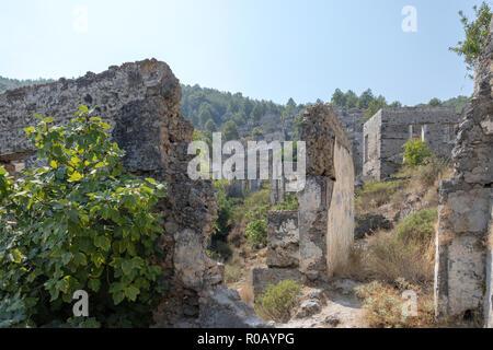 Ghost Village of Kayakoy - Stock Photo