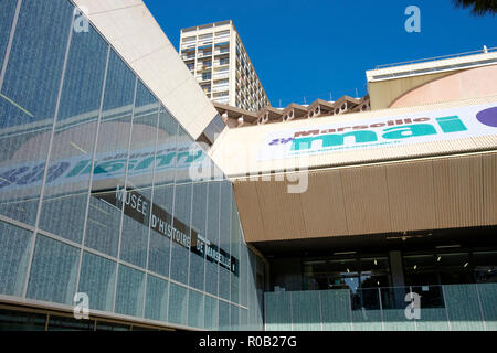 The exterior of the Musee d'Histoire de Marseille, Marseille, France. - Stock Photo