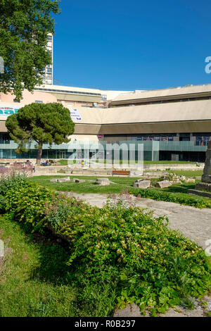 The archaeological site of the Jardins des Vestiges, part of the Musee d'Histoire de Marseille, Marseille, France. - Stock Photo
