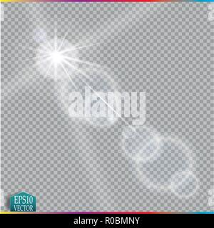 Vector transparent sunlight special lens flare light effect. - Stock Photo