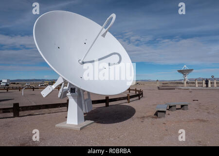 Very Large Array (VLA) Radio Telescopes in New Mexico, USA - Stock Photo