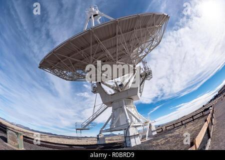 Very Large Array (VLA) Radio Telescopes in New Mexico, USA - Stock Photo