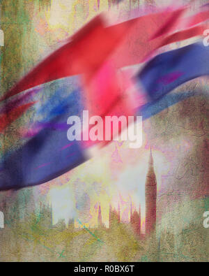 DIGITAL ART: London - Stock Photo