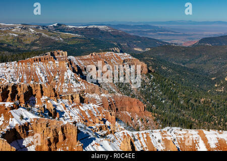 Cedar Breaks National Monument in Winter, Utah - Stock Photo