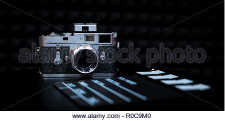 vintage camera film leica m2 - Stock Photo