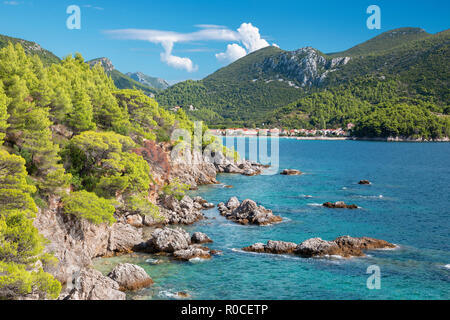 Croatia - The coast of Peliesac peninsula near Zuliana - Stock Photo
