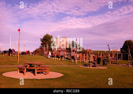 reculver bay in east kent uk nov 2018 - Stock Photo