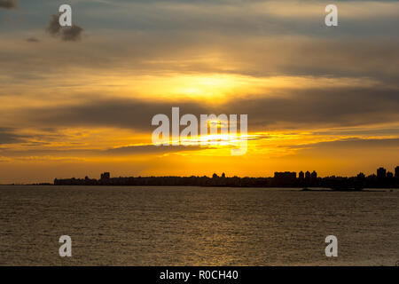 Cityscape in Montevideo, Uruguay - Stock Photo