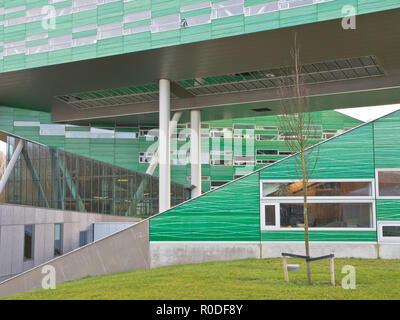 Detail of the Linnaeusborg in Groningen, Netherlands - Stock Photo