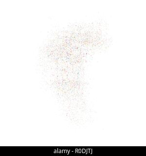 Colorful explosion of confetti  isolated on white  background. Vector illustration,eps 10. - Stock Photo