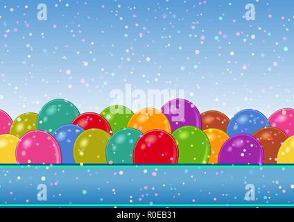 Seamless Background with Balloons - Stock Photo