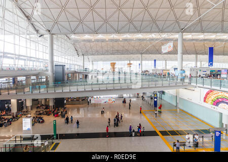 Inside Hong Kong International Airport - Stock Photo