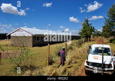 One out of four schools rebuilt by the Kenya Red Cross in Eldoret in the Rift Valley - Stock Photo