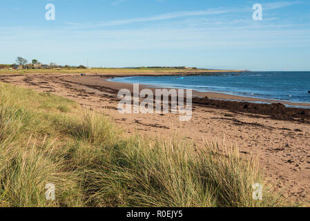 East Haven beach, between Arbroath and Carnoustie, Angus, Scotland. - Stock Photo