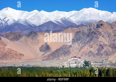 Thiksey Monastery, Ladakh, Jammu and Kashmir, India - Stock Photo