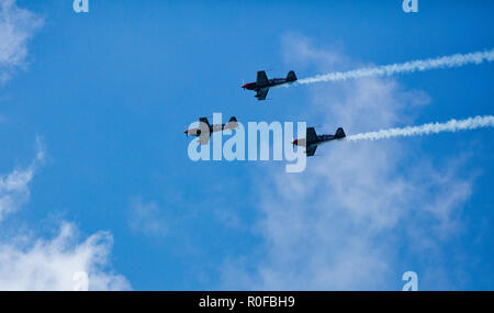 The Blades Aerobatic Team at the Torbay Airshow - Stock Photo