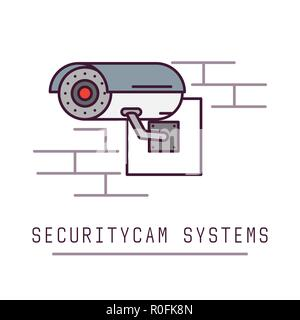 Security cam system - Stock Photo