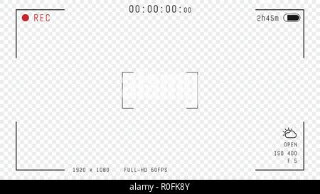 Video Camera Overlay Stock Vector Image Art Alamy