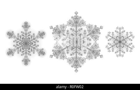 polygonal low poly festive snowflake isolated 3d detailed render