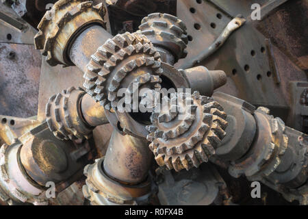 drilling head for mining purposes - Stock Photo