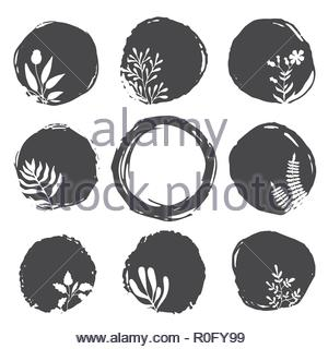Vector ink spots - Stock Photo