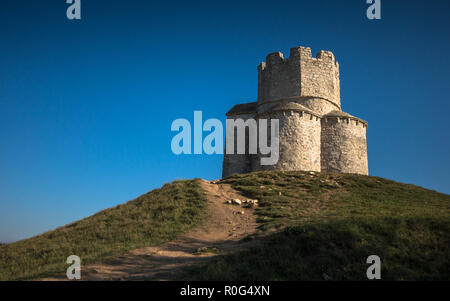 Old medieval church of St. Nicholas Sveti Nikola from 12th century near Nin, Dalmatia, Croatia - Stock Photo