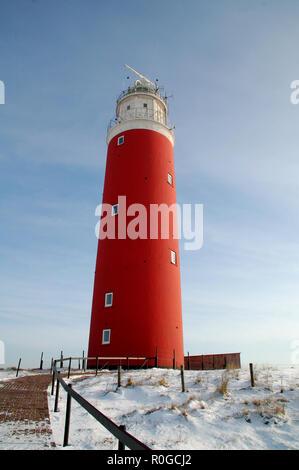 Lighthouse at isle Texel, Holland Europe. - Stock Photo