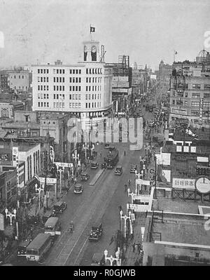 Ginza area in 1933 - Stock Photo