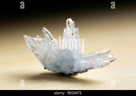 Barite on Calcite, Stoneham, weld County, Colorado gem - Stock Photo