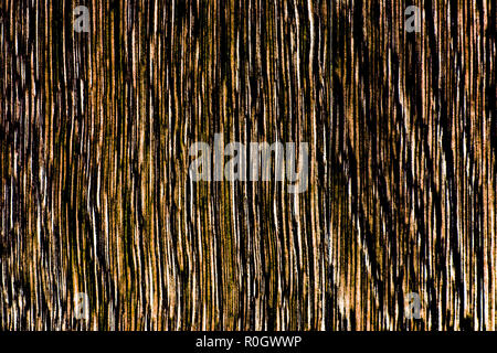 High contrast wooden texture in brown tones, lengthwise cut vertically oriented, HDR toning - Stock Photo