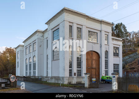 Scottish & Southern Energy Hydro-electric power station at Tummel Bridge, Perth and Kinross, Scotland - Stock Photo