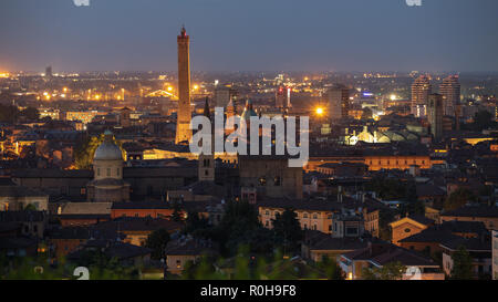 Bologna skyline in the evening - Stock Photo
